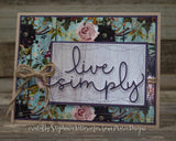 LIVE SIMPLY WORD DIE - GINA MARIE DESIGNS