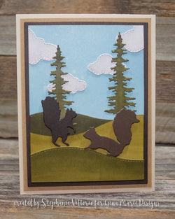 SQUIRRELS PLATE STYLE DIE SET - GINA MARIE DESIGNS