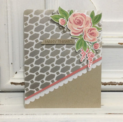 GEO DIAMONDS 6x6 STENCIL - Gina Marie Designs