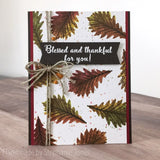 FALL LEAVES - GINA MARIE DESIGNS PHOTOPOLYMER CLEAR STAMPS
