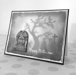 TOMBSTONE - GINA MARIE DESIGNS PHOTOPOLYMER CLEAR STAMPS
