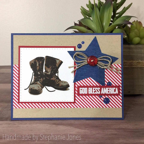 MILITARY BOOTS - GINA MARIE DESIGNS PHOTOPOLYMER CLEAR STAMPS