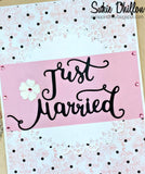 JUST MARRIED WORD DIE SET - Gina Marie Designs