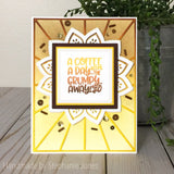 COFFEE WORDS STAMP SET - Gina Marie Designs