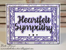 HEARTFELT SYMPATHY WORD DIES AND SHADOW DIE - Gina Marie Designs