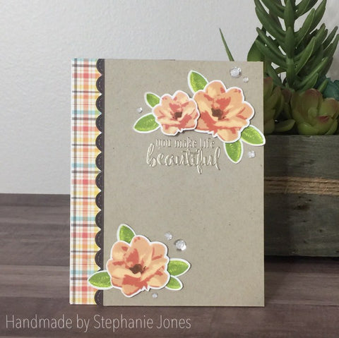 MAGNOLIA BLOSSOM FLOWER STAMP SET - Gina Marie Designs