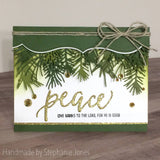 SCRIPT CHRISTMAS WORDS - PEACE - BELIEVE - Gina Marie Designs