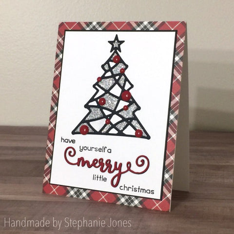 CURLY CHRISTMAS WORD DIES - MERRY - BRIGHT - JOY - Gina Marie Designs