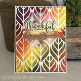 PATTERNED LEAF STENCIL - Gina Marie Designs