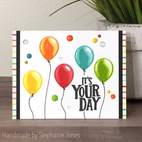 HAPPY BIRTHDAY BALLOON STAMP SET - Gina Marie Designs