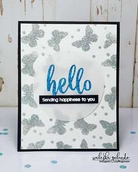 SWISS DOTS AND BUTTERFLIES 6x6 STENCIL - Gina Marie Designs