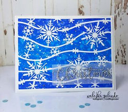 SNOWFLAKE BACKGROUND A2 SIZED PLATE DIE - Gina Marie Designs
