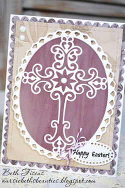 SCROLL CROSS DIE - Gina Marie Designs