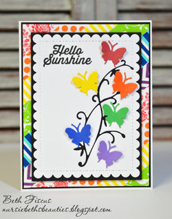 BUTTERFLY AND VINE DIE SET - Gina Marie Designs