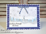 WINTER VILLAGE BORDER DIE - Gina Marie Designs
