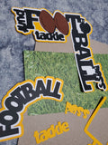FOOTBALL DIE CUT LOT WITH PHOTO MATTS AND RIBBON