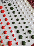 TRADITIONAL CHRISTMAS GLOSS ENAMEL DOTS - GINA MARIE DESIGNS