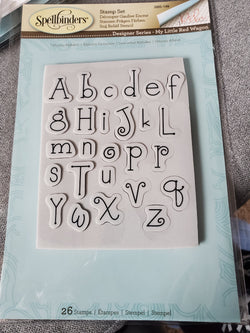 WHIMSY ALPHABET STAMP SET - SPELLBINDERS