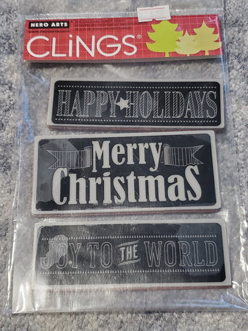 CHALKBOARD MESSAGES - HERO ARTS CLING STAMPS