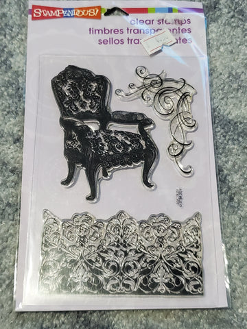 DAMASK CHAIR - STAMPENDOUS STAMPS