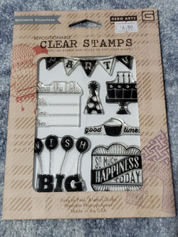 WISH BIG - HERO ARTS CLING CLEAR STAMPS