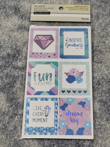 LIVE EVERY MOMENT EVER PLANNER STICKERS RECOLLECTIONS MULTI SHEET PACK