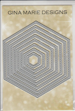 X STITCHED HEXAGON DIE SET - Gina Marie Designs
