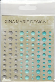 NAUTICAL OCEAN COLORS GLOSS STYLE Enamel Dot Embellishments