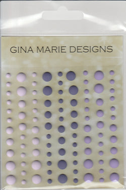 PURPLE TRIO COLORS Enamel Dot Embellishments