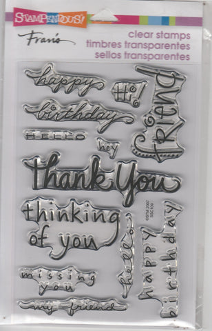 HAPPY MESSAGES - STAMPENDOUS CLEAR STAMPS