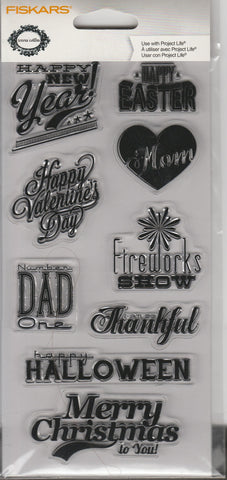 OCCASIONS - FISKARS CLEAR STAMPS