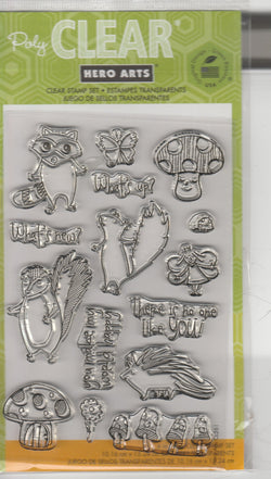 FOREST CRITTERS - HERO ARTS CLEAR STAMPS