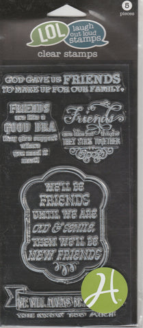 FRIENDS - LOL LAUGH OUT LOUD CLEAR STAMPS