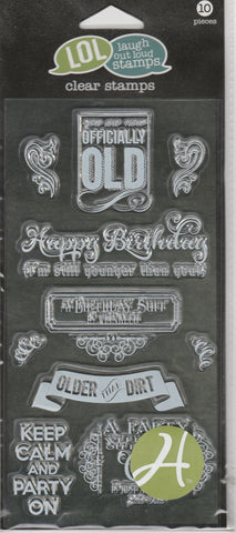BIRTHDAY - LOL LAUGH OUT LOUD CLEAR STAMPS