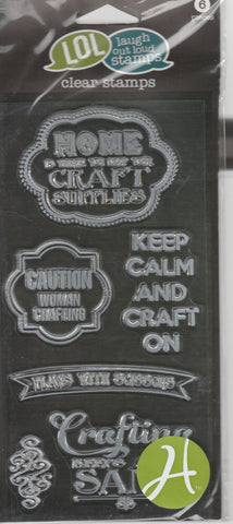 CRAFT THEME - LOL LAUGH OUT LOUD CLEAR STAMPS