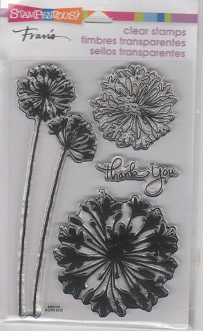 AGAPANTHUS THANKS - STAMPENDOUS CLEAR STAMPS