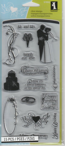 WEDDING MARRIAGE - INKADINKADO CLEAR STAMPS