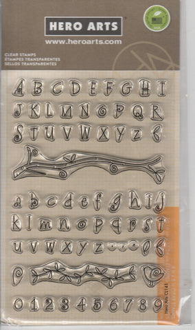 UPPER AND LOWER FONT - HERO ARTS CLEAR STAMPS
