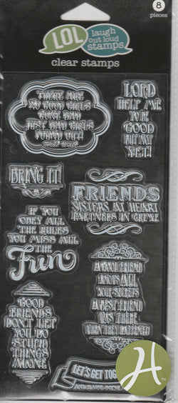FRIENDS #2 (lord help me) - LOL LAUGH OUT LOUD CLEAR STAMPS