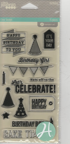 BIRTHDAY - JILLIBEAN CLEAR STAMPS