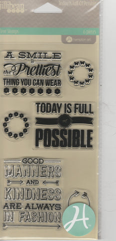 TODAY IS FULL OF POSSIBILITIES - JILLIBEAN CLEAR STAMPS