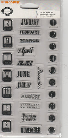 DATES - FISKARS CLEAR STAMPS
