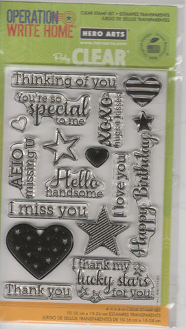 OPERATION WRITE HOME - HERO ARTS CLEAR STAMPS