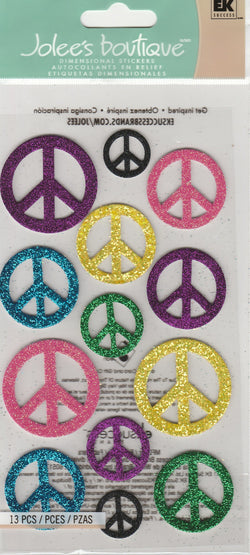 XL PEACE SIGNS - Jolee's Boutique Stickers