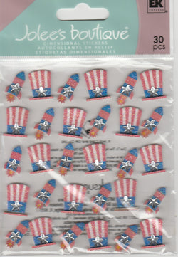 PATRIOTIC HATS AND REPEATS - Jolee's Boutique Stickers
