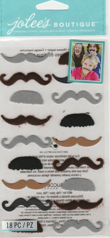 SMALL MUSTACHES - Jolee's Boutique Stickers