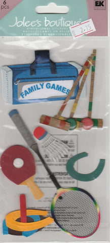 FAMILY GAMES - Jolee's Boutique Stickers