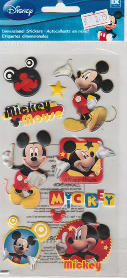 Mickey Mouse (THICK) - Jolee's Boutique Stickers