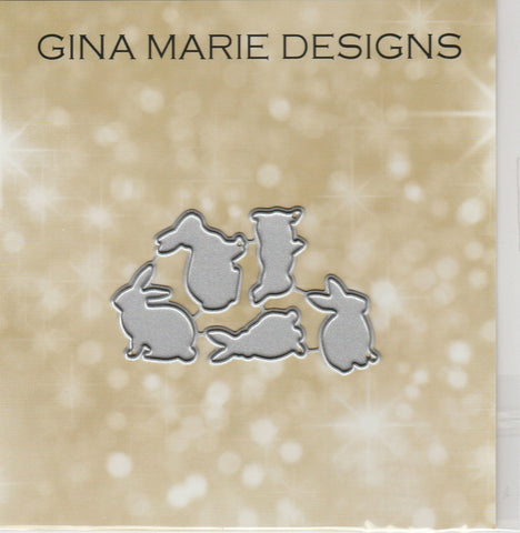 SMALL BUNNIES (medium size in our line) DIES - Gina Marie Designs