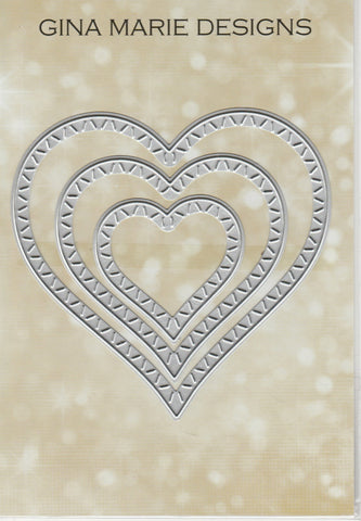 SLASH STITCHED HEART DIE SET - Gina Marie Designs